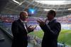 Дмитрий Азаров вручил президенту FIFA первый почетный значок