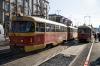 Во Владикавказе трамвай задымился прямо на рельсах