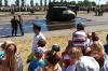 Танк с людьми внутри упал с платформы на параде в честь 75-летия Курской битвы