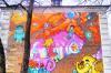 Незаурядный стрит-арт: в Кузбассе мобильный оператор изуродовал стену с граффити