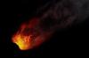Возможно, метеорит. В Красноярском крае видеорегистратор заснял в небе светящийся шар