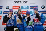 Впервые за девять лет российские биатлонисты оформили золотой дубль