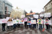 Молодогвардейцы устроили монстрацию в столице