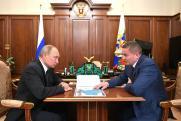 Путин встретился с губернатором Волгоградской области