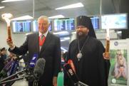 В аэропорту Внуково встретили Благодатный огонь
