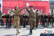 У Останкинской телебашни прошли масштабные акции в честь Дня Победы