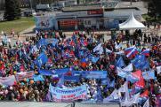 На первомайские акции в Нижнем вышли профсоюзы, партии, левые движения и монстранты