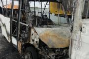 В Новосибирске забастовка водителей маршруток закончилась пожаром
