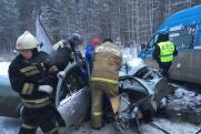 В Свердловской области из-за снегопада на трассах бьются машины