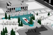 Секс-символ Нового года. Власти и журналисты оценили необычную форму центрального катка в Новосибирске