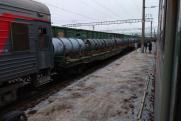 Составы с урановыми отходами заметили около пассажирского поезда