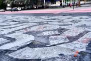 Супрематический крест Покраса Лампаса не пережил екатеринбургской зимы