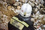 В Белгородской области горит шахта