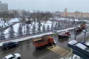 Аварии и заторы образовались в Иркутске из-за снегопада