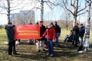 «Коммунисты России» провели тайную маевку в парке Петербурга