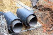 Фонтан кипятка забил из-под земли в центре Петербурга