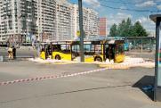 В Петербурге рейсовый автобус сгорел прямо на проезжей части