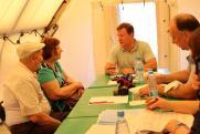 Дмитрий Азаров встретился с пострадавшими от пожара в Борском районе