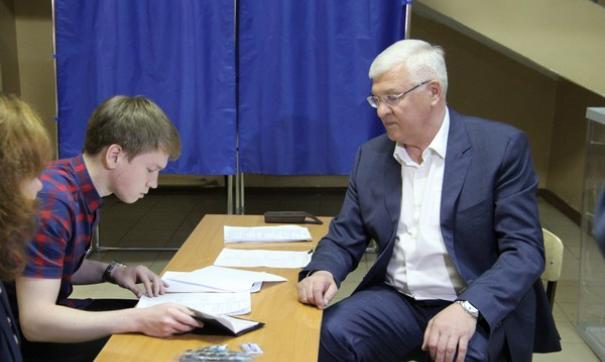 Председатель Заксобрания Приангарья Сергей Брилка на праймериз