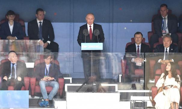 Владимир Путин на открытии ЧМ