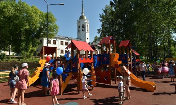 Благоустройство парка завершили накануне юбилея Кудымкара