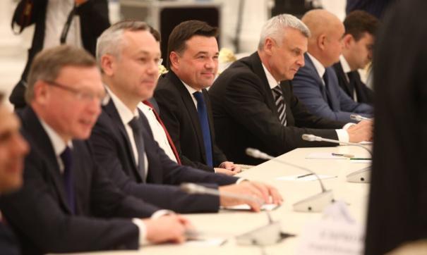 Воробьев побывал на встрече с Путиным