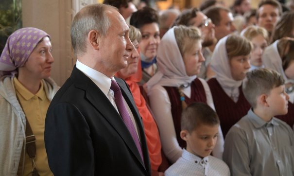 Старинная  обитель: Путин спустя 18 лет вновь посетил Псково-Печерский монастырь