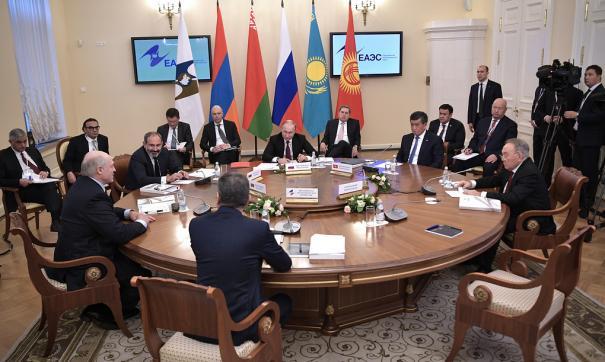 Заседание лидеров стран ЕАЭС