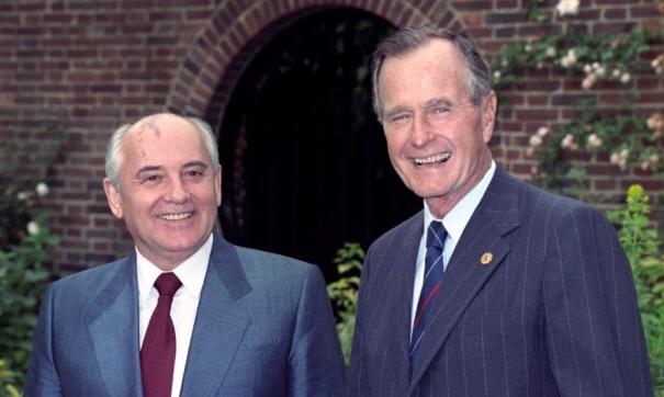 Михаил Горбачев и Джордж Буш-старший в 1991 году
