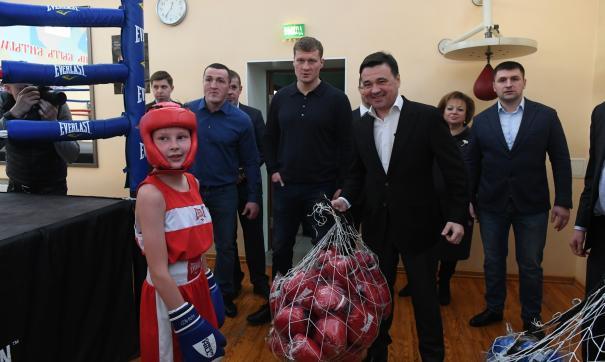Также Андрей воробьев побывал в спортивном клубе бокса