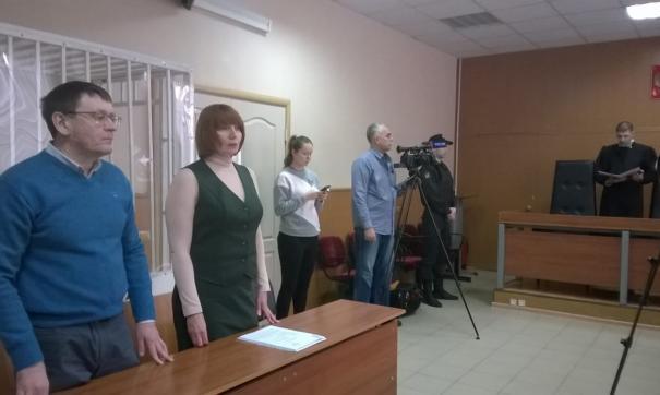 Сергей Чебыкин слушает приговор суда