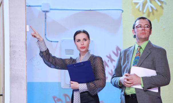 Участники команды «Уральские пельмени» Сергей Нетиевский и Юлия Михалкова