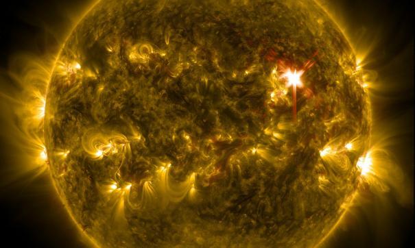 Последствия солнечной вспышки могут наблюдаться в течение недели