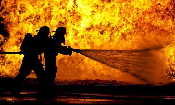 В ликвидации пожара были задействованы десять человек