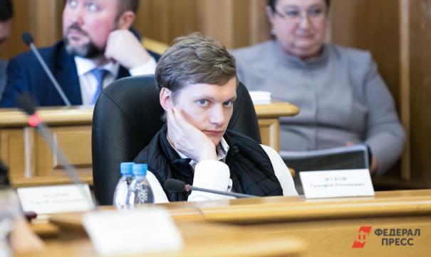 Тимофей Жуков на заседании гордумы