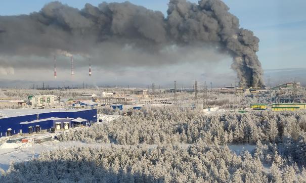 Столб дыма от пожара был виден почти из всех районов города