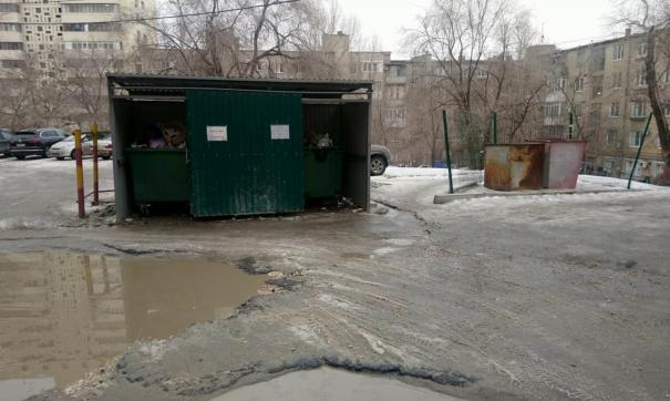 площадка для мусора в Волгограде