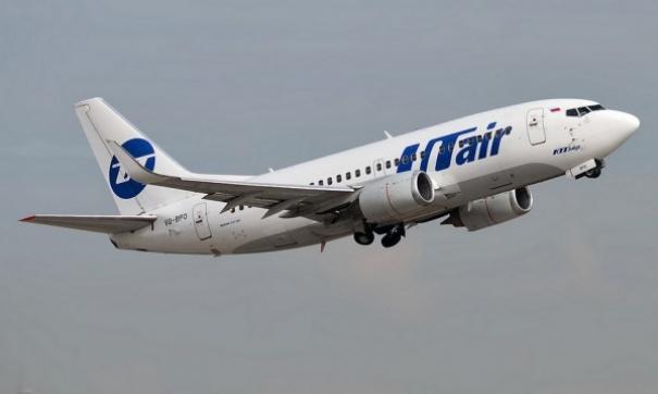 У самолета авиакомпании Utair при посадке потрескалось лобовое стекло