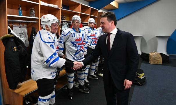 Губернатор пожелал хоккеистам удачной игры