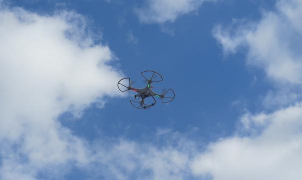 Квадрокоптер был использован в зоне маневрирования самолетов