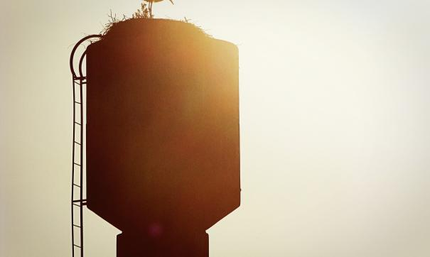 По словам местных жителей, ремонт на водонапорной башке не проводился уже давно
