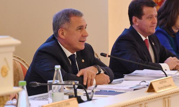 Минниханов выступил на сессии Казгордумы