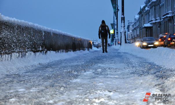 Замминистра поскользнулась на льду