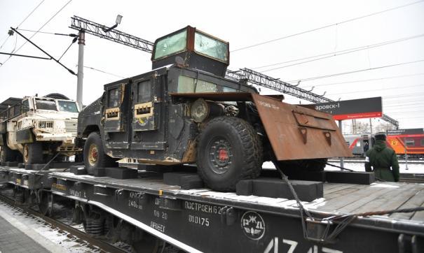 В Хабаровск прибыла военная техника из Сирии