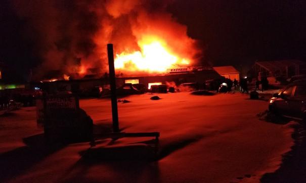Пожар в Салехарде