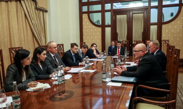 Встреча Антона Кобякова с послом Финляндии в России