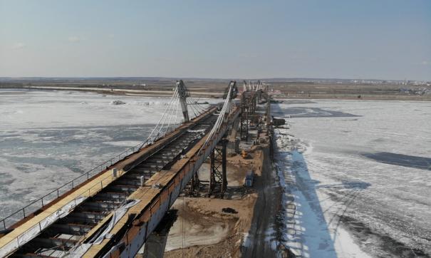 Российскую и китайскую части моста через Амур соединят в мае