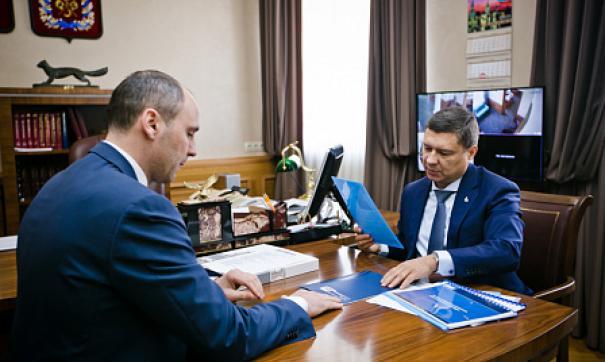 Денис Паслер обсудил с Владимиром Кияевым вопросы сотрудничества