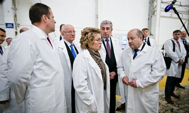 Матвиенко назвала «Стрелу» супепередовым предприятием