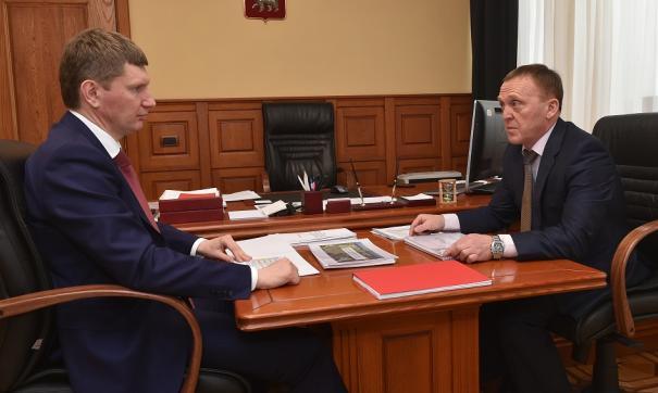 Губернатор проводит серию встреч с главами укрупненных территорий